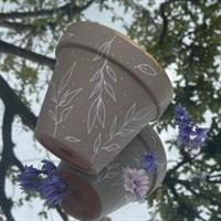 Beige leaf 11cm terracotta plant pot product review