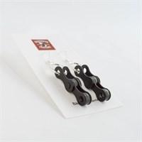 Black Chain Link Drop Earrings