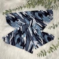 Blue camo collar slip bandanas in XS, S, M.