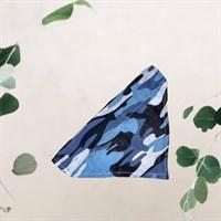 Blue Camouflage Pet Bandana