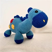 Blue Soft Dinosaur Toy