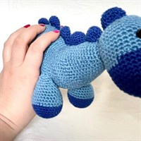 Blue Soft Dinosaur Toy gallery shot 5