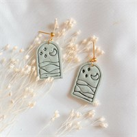 Boho green imprinted clay earrings product review