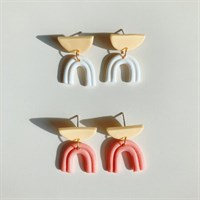 Boho rainbow arch small dangles against white background gallery shot 1
