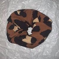 Brown Leopard Print Scrunchies