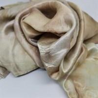 Bundle Dyed Silk Scarf Beige & Purple wrapped gallery shot 11