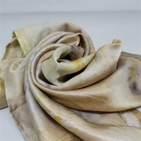 Bundle Dyed Silk Scarf Multi wrapped gallery shot 6