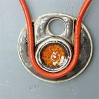 Burnt Orange Porcelain Necklace