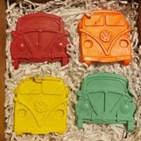 Car and Camper shaped novelty Crayons