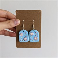 Cherry Blossom Polymer Clay Earrings