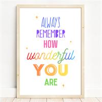 Childrens Positive Affirmation Art Print