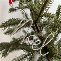 Christmas Noel Wire Tree Decoration