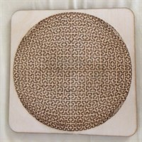 Circular Fractal Wooden Tray Puzzle Another gallery shot 3