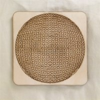 Circular Fractal Wooden Tray Puzzle