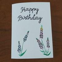 Colourful Foxglove Birthday Card