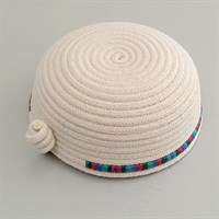 Handmade cotton rope bowl showing the underneath gallery shot 2