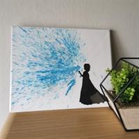 Crayon art canvas - ice queen