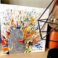 Crayon Art Canvas 'Butterfly Kisses'
