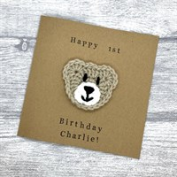 Crochet Bear Birthday Card