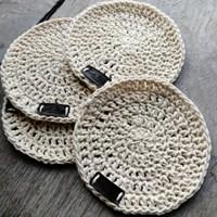 Crochet coaster set of 4 - Cream