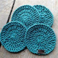Crochet coaster set of 4 - Teal