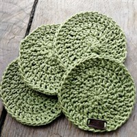 Crochet coaster set of 4 - Sage