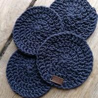 Crochet coaster set of 4 - Navy