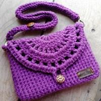 Crochet Cross-body Clutch Bag