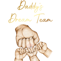 Daddy's team Fathers Day & family print - close