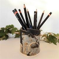 Dartmoor series small stoneware vase as pencil pot gallery shot 5