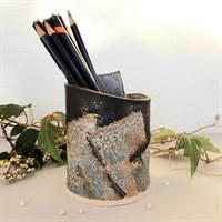 Dartmoor series small stoneware vase #2, rear