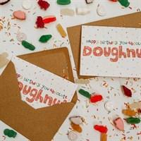 Doughnut Funny Birthday Card A6
