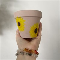Dusty Pink Sunflower Plant Pot