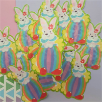 Easter rabbit holographic sticker