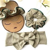 Olive Green Hair Accessories - Eco