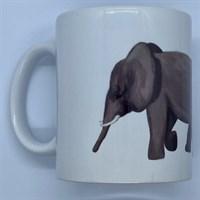 Elephant mug, mum and baby.