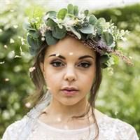 Eucalyptus Faux Flower Bridal Crown portrait gallery shot 9