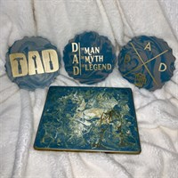 Father's Day coasters