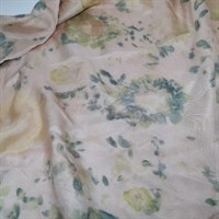 Floral Hammer Dyed Silk Scarf flat gallery shot 10