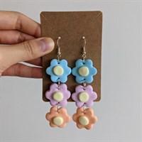 Flower Chain Polymer Clay Earrings