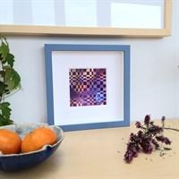 Framed woven paper art 'Distant World'