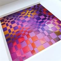 Framed woven paper artwork 'Beyond' detail