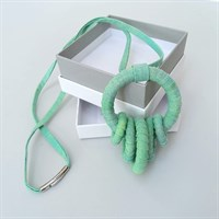 Fresh green fabric necklace