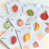 Fruity Friends Clay Lapel Pins