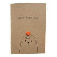 Funny Cat Birthday Pun Card