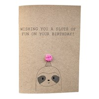Funny Sloth Birthday Pun Card