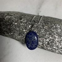 Glittering Lapis Lazuli cabochon pendant