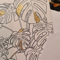 Gold Leaf Cheese Plant greeting card