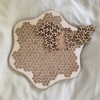 """Gosper """"Star"""" Fractal Tray Puzzle - pieces removed gallery shot 13"""
