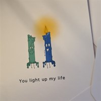 Greeting Card. You light up my Life